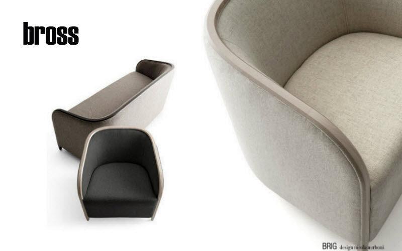 BROSS Sessel mit Volutenarmlehnen Sessel Sitze & Sofas   