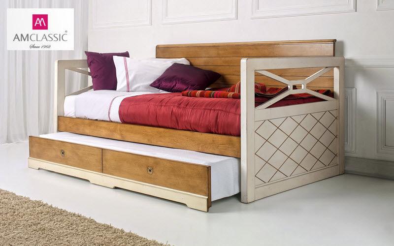 AM FURNITURE Ausziehbares Kastenbett Einzelbett Betten  |