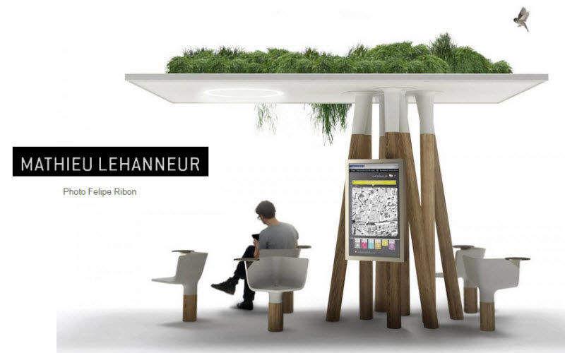 MATHIEU LEHANNEUR Bushaltestelle Hütten, Almhütten Gartenhäuser, Gartentore...  |