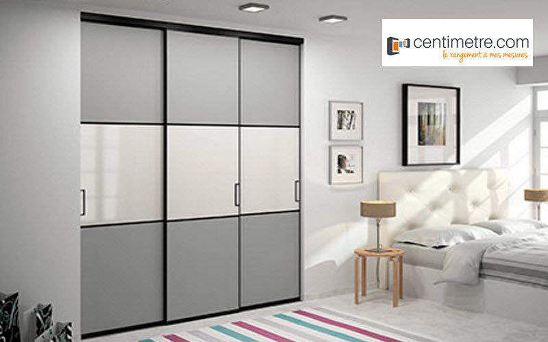 centimetre.com Wandschrank mit Schiebetüren Schränke Garderobe   