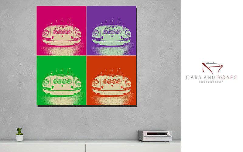 CARS AND ROSES Dekobilder Wandschmuck Verzierung   