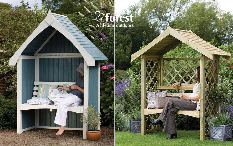 Forest Garden Bank mit Dach Gartenbänke Gartenmöbel  |