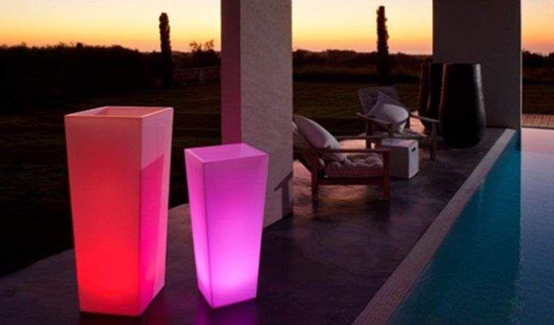 SMART AND GREEN Leuchtblumentopf Bodenbeleuchtungen Außenleuchten  |