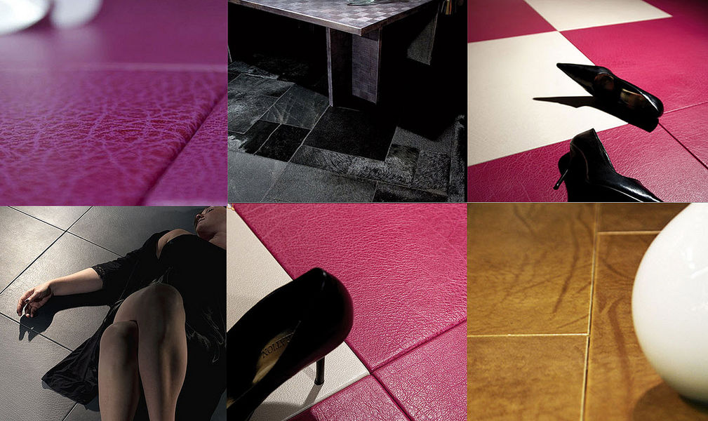 Christophe Fey Concept Lederfliese Bodenplatten Böden  |