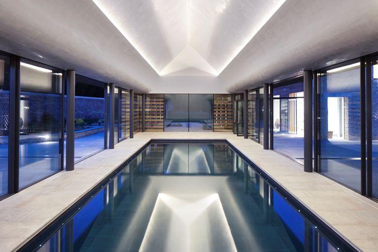 GUNCAST SWIMMING POOLS Innenswimmingpool Schwimmbecken Schwimmbad & Spa  |