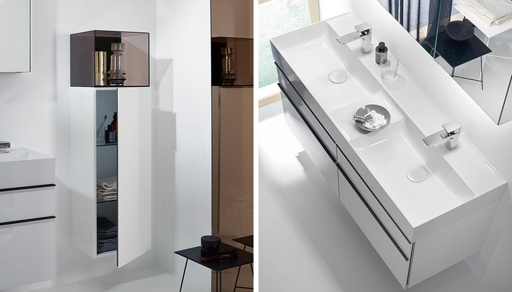 BURGBAD Doppelwaschtisch Möbel Badezimmermöbel Bad Sanitär Badezimmer | Design Modern