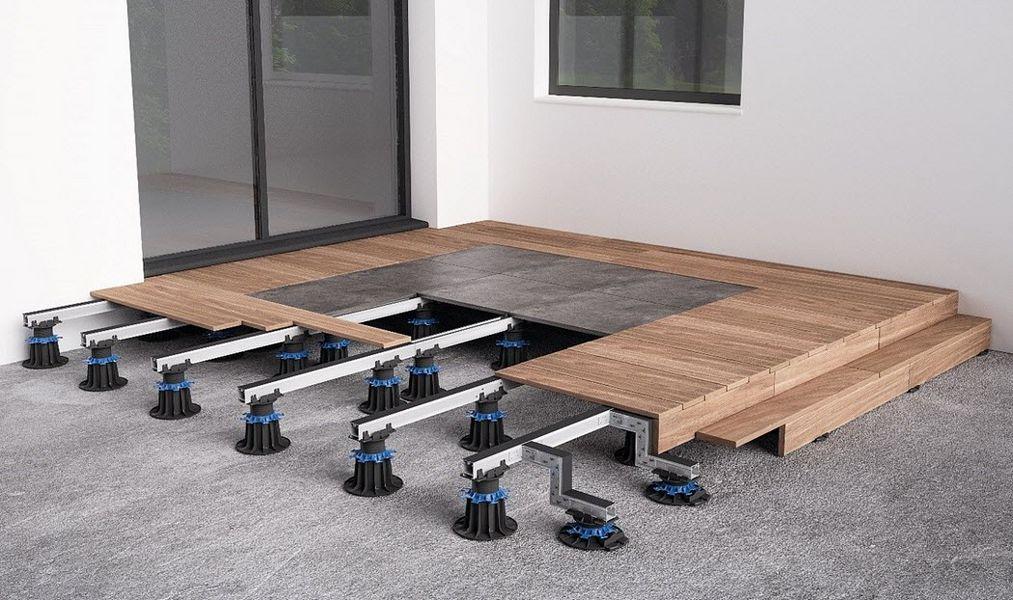JOUPLAST Verbindung für Bodenplatten Verschiedene Bodenbeläge Böden  |