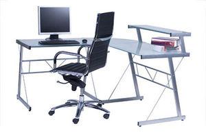 KOKOON DESIGN - bureau informatique modulable en verre 1 - Schreibtisch