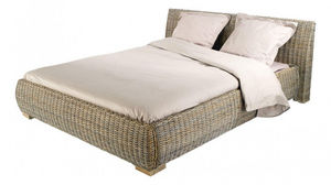 INWOOD - lit en rotin kubu - Doppelbett