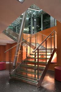 Zweimal viertelgewendelte Treppe