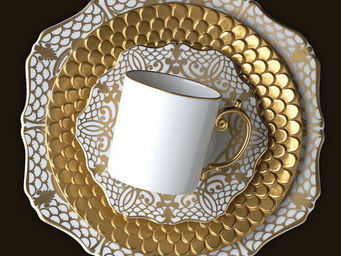 L'OBJET - alencon gold dinnerware - Flache Teller