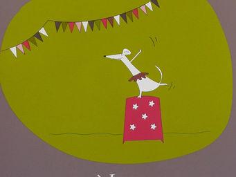 ICI LA TERRE - affiche prénom personnalisée fille circus - Dekorative Gemälde Für Kinder