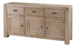 INWOOD - buffet 3 portes 3 tiroirs nevada en acacia 165x45x - Anrichte