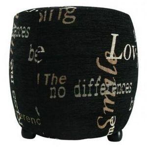 International Design - pouf love - couleur - noir - Sitzkissen