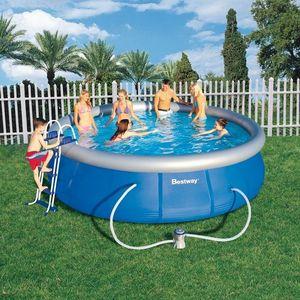 Bestway - piscine autoportante - 457 x 107 cm - Schwimmbad Mobil