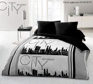 FASHION HOME - parure de drap 4 pièces city by night - Oberbettbezug