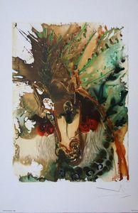 ARMAND ISRAËL - bucéphale de salvador dali lithographie - Lithographie