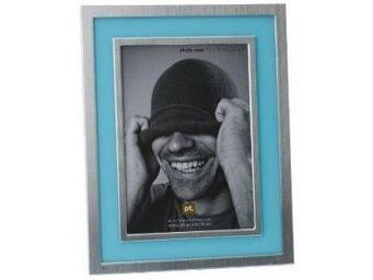 Present Time - cadre photo bleu clair 13x18 cm - Fotorahmen