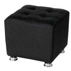International Design - pouf carré blanc/noir - Sitzkissen