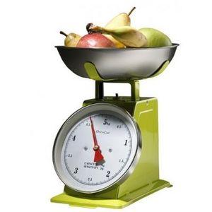 Delta - balance de cuisine métal rouge - couleur - vert - Elektronische Küchenwaage