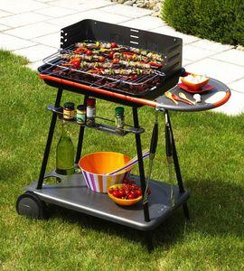 QOOKA - barbecue acier émaillé qooka a540 avec chariot - Holzkohlegrill