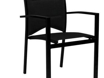 WILSA GARDEN - fauteuil de jardin modulo noir en aluminium et tex - Gartensessel
