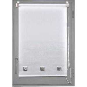 Luance - store enrouleur tamisant oeillets 45x180cm blanc - Verdunkelungsrollo