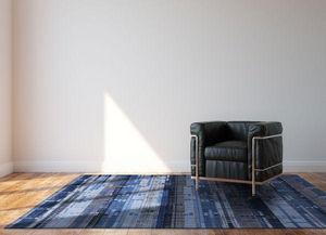 Louis De Poortere - rockefeller blue - Moderner Teppich