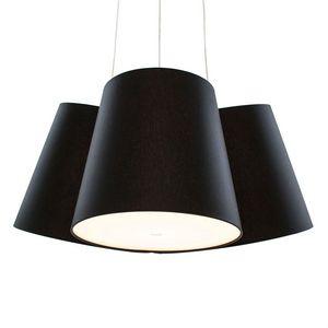 FrauMaier - cluster - suspension 3 abat-jours noir ø39cm | sus - Deckenlampe Hängelampe