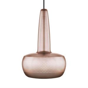 VITA - clava - suspension cuivre ø21,5cm + câble noir 2,1 - Deckenlampe Hängelampe