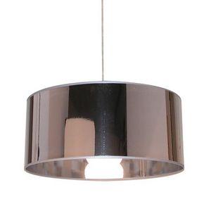 Corep - cylindre matiere - suspension miroir argent   susp - Deckenlampe Hängelampe
