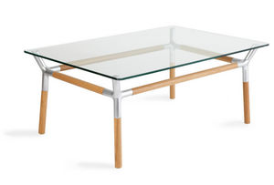 Umbra - table basse konnect naturel - Rechteckiger Couchtisch
