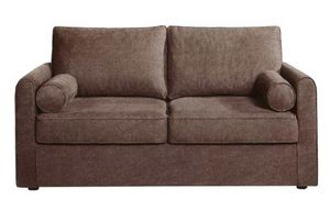 Home Spirit - canapé fixe piccolo 3 places tissu tweed taupe - Sofa 3 Sitzer