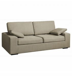 Home Spirit - canapé fixe neptune 2 places tissu microfibre grei - Sofa 2 Sitzer