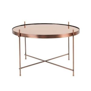 ZUIVER - table salon cupid cuivre - Runder Couchtisch