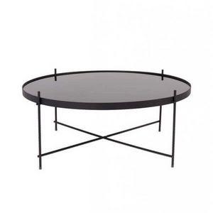 ZUIVER - table salon cupid black - Runder Couchtisch