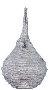 AUBRY GASPARD - lampe suspension métal gris blanchi diamètre 60cm - Deckenlampe Hängelampe