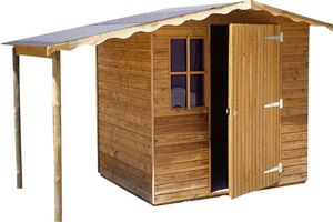 Cihb - abri de jardin en pin 3m² supra avec bûcher - Holz Gartenhaus