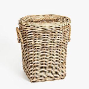 Zara Home - rotin avec poignée en jute - Wäschekorb