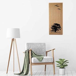 Generative-lab - l'arbre sur bois - Wanddekoration