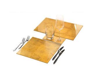 POSH - matbox in gold leaf - Tischset