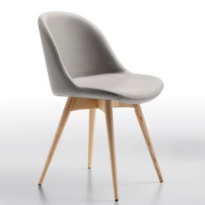 Midj - chair sonny s l ts - chaise chêne naturel et simil - Stuhl