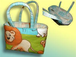 CréaFlo - sac à goûter ou de toilette jungle - Kinderkulturbeutel