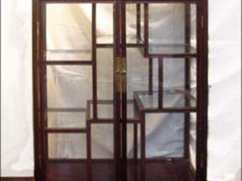 Antoine Gossart - paire de vitrines en bois de huanghuali - Niedriger Vitrinenschrank