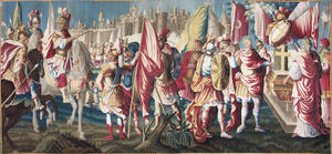 Galerie Hadjer - le siege de jerusalem - Aubusson Teppich