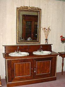Loic Bougo - meuble de salle de bains avec 2 éviers - Badezimmermöbel