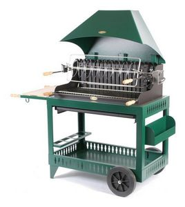 Le Marquier - irouleguy s/chariot acier - vert - Holzkohlegrill
