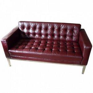 LE RÊVE CHEZ VOUS - canapé cuir coloris bordeaux 2 places slide - Sofa 3 Sitzer
