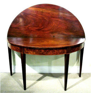 ERNEST JOHNSON ANTIQUES - table console demi-lune george iii - Wandtisch
