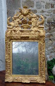 Antiquité Le Berre - miroir en bois doré - Spiegel